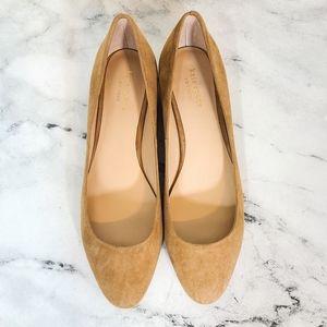 Kate Spade Fallyn Nude Suede Ballet Flats